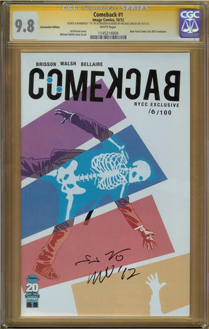 Comeback #1 Convention CGC 9.8