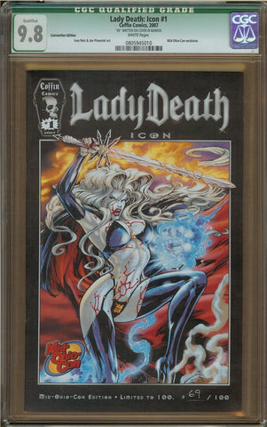 Lady Death: Icon #1 Convention Edition (Q) CGC 9.8