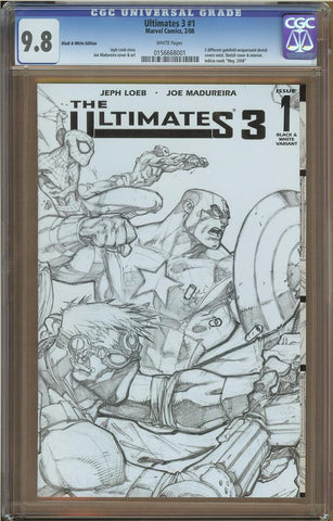 Ultimates 3 #1 Black & White Variant CGC 9.8