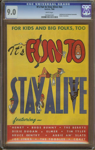 It's Fun to Stay Alive #nn CGC 9.0