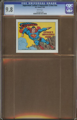 Superman: Luthor's Impossible Crime CGC 9.8