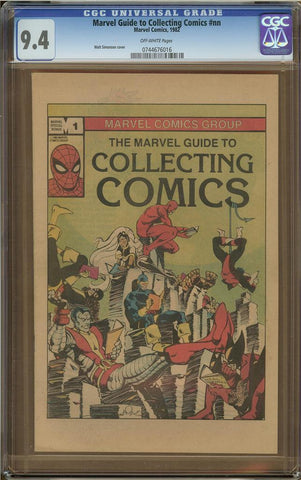 Marvel Guide to Collecting Comics #1 CGC 9.4