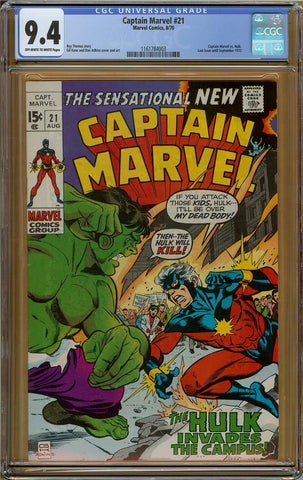 Captain Marvel #21 CGC 9.4