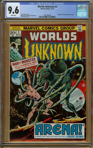 Worlds Unknown #4 CGC 9.6