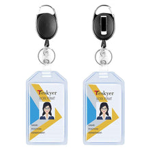 Load image into Gallery viewer, Teskyer-2-Pack-Heavy-Duty-Vertical-Transparent-Plastic-Badge-1