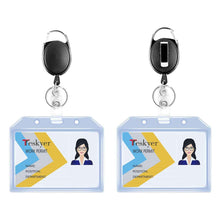 Load image into Gallery viewer, Teskyer-2-Pack-Heavy-Duty-Vertical-Transparent-Plastic-Badge-horizontal