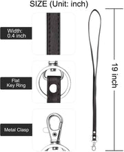 Load image into Gallery viewer, Teskyer-Leather-Lanyard-with-Key-Ring-4