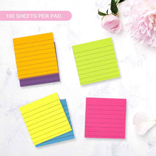 Load image into Gallery viewer, Teskyer-Lined-Sticky-Notes-3x3-Inch-Self-Stick-Notes-7