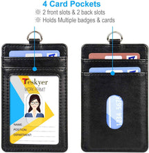 Load image into Gallery viewer, Teskyer-Upgrated-Vertical-Leather-ID-BadgeCard-Holder-with-Lanyard-4.