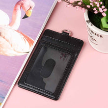 Load image into Gallery viewer, Teskyer-Upgrated-Vertical-Leather-ID-BadgeCard-Holder-with-Lanyard-7