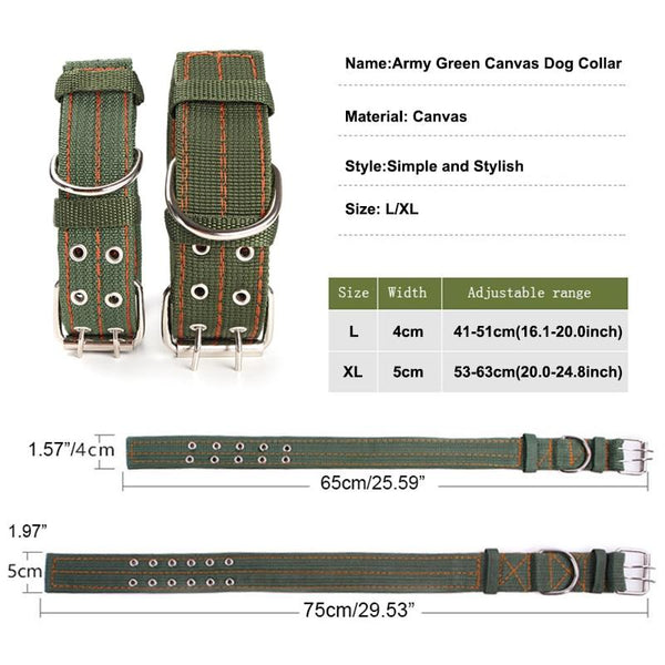 Dog Collar Army Green