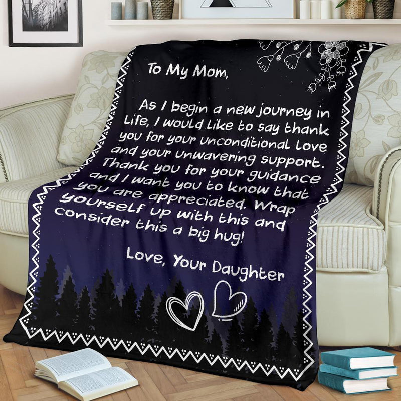 TO MY MOM - LOVE DAUGHTER BLANKET
