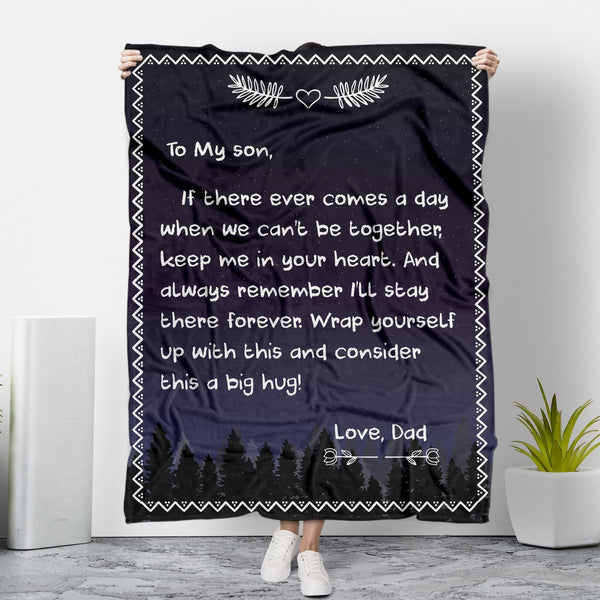 TO MY DAUGHTER&SON - LOVE DAD MESSAGE BLANKET