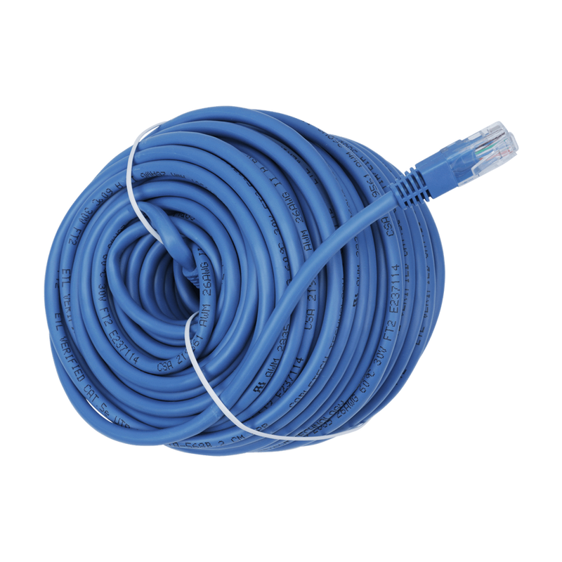 CAT5E Networking Ethernet Cable, Blue or Black - 7 to 100 Feet Bulk