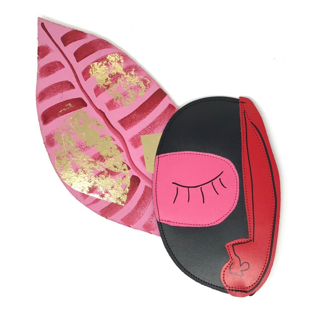 POCHETTE ABSTRACT FACE CLUTCH - ARK