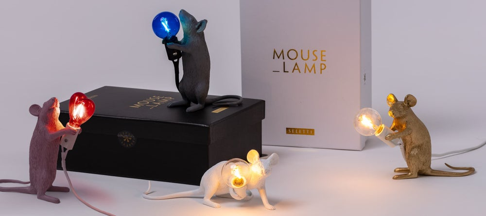 Mouse Lamp Gold - SELETTI