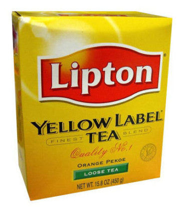 Lipton Yellow Label Orange Pekoe Loose Tea 450G USA Seller FAST SHIP - Indiafoodandgifts.com