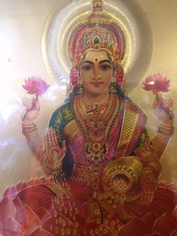 Goddess Laxmi with a Golden Frame
