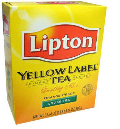 Lipton Yellow Label Orange Pekoe Loose Tea 900G USA Seller FAST SHIP - Indiafoodandgifts.com