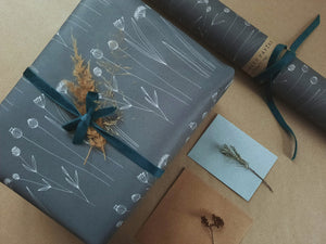 Graphical Floral wrapping paper