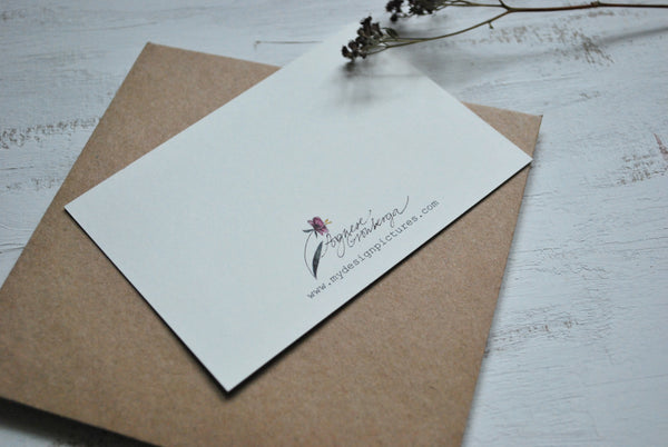 Rustic flowers, small flat card