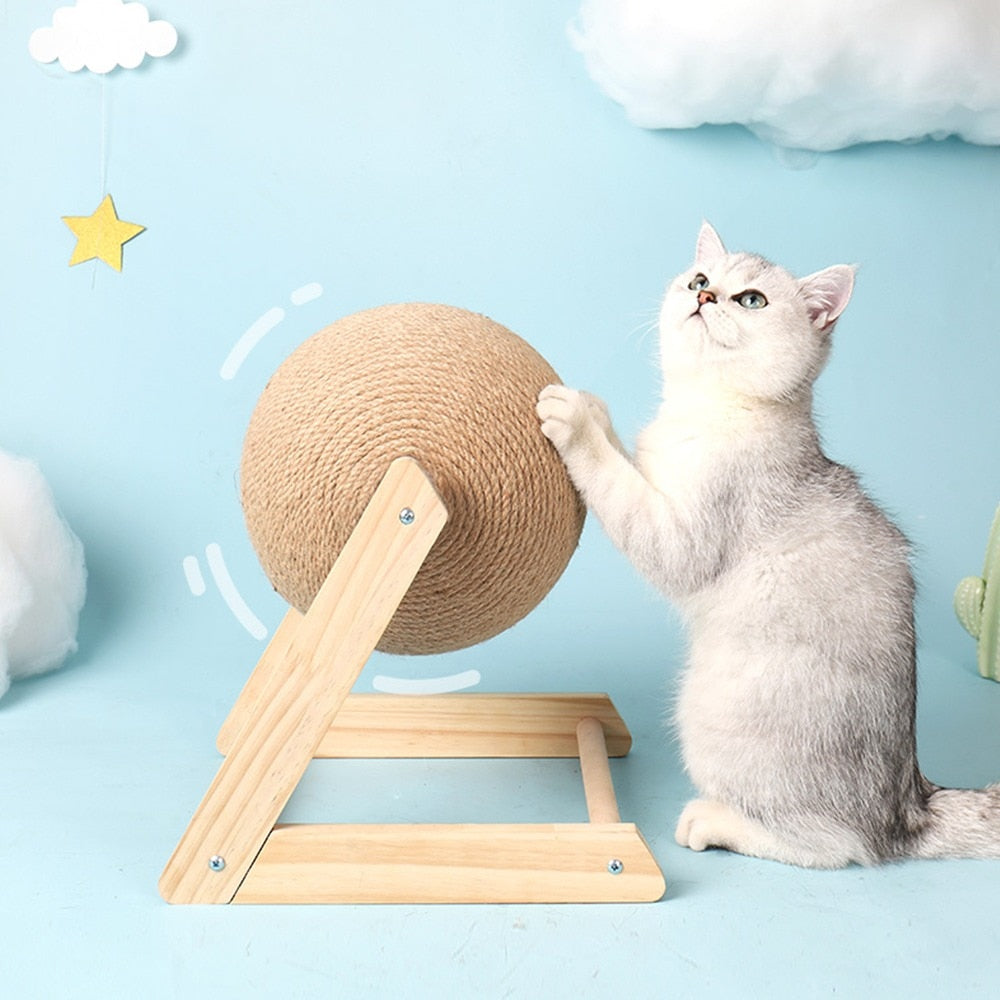 Sisal Rope Ball Cat Scratching Toy