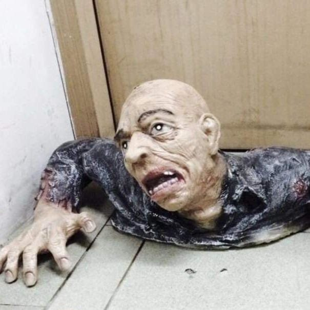 Scary Halloween Crawling Ghoul Decor
