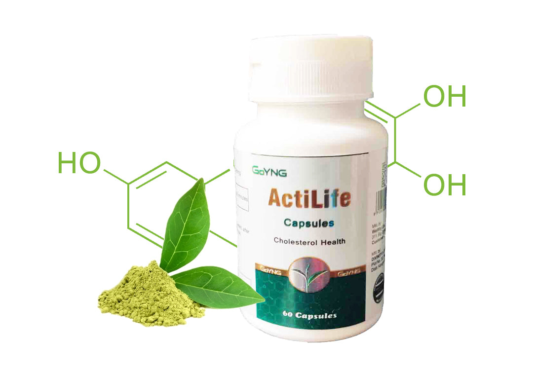 GoYNG ActiLife Cholesterol Health (Catechins &Theaflavins- Pure, Natural & Herbal)