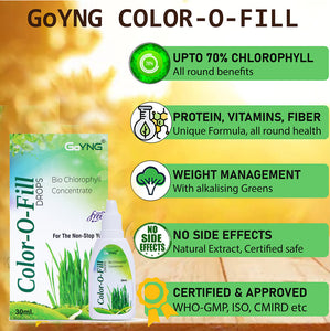 GoYNG Color-O-fill Chlorophyll Immunity Detox Beauty 30 ml drop