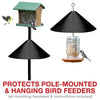 squirrel baffle, squirrel proof bird feeder