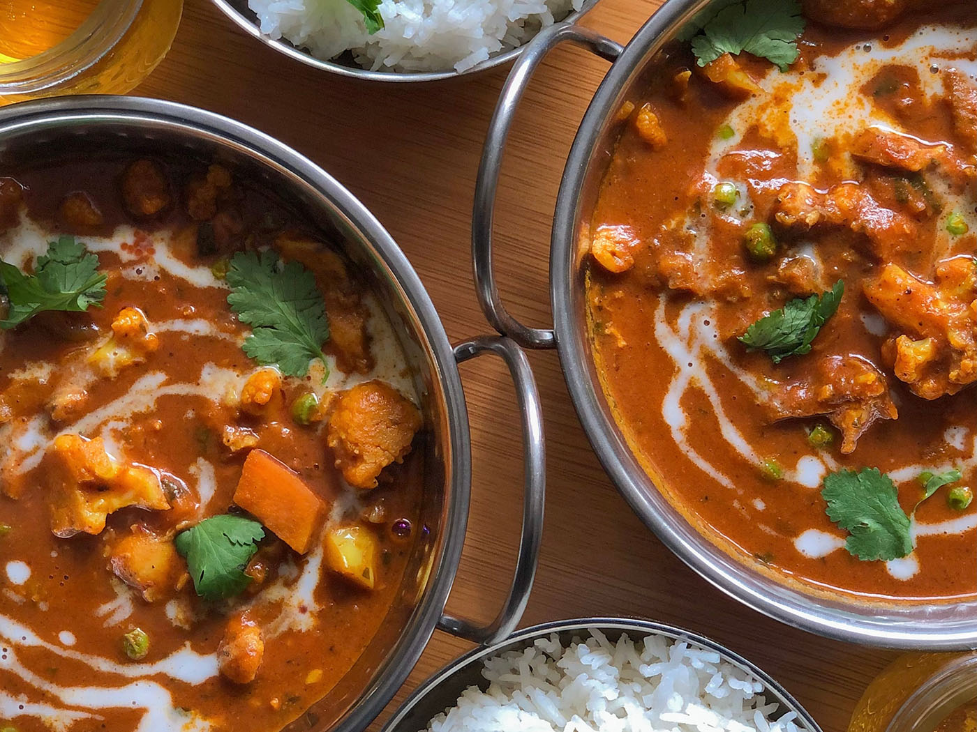 veggie curry made with Upright instant powdered oatmilk