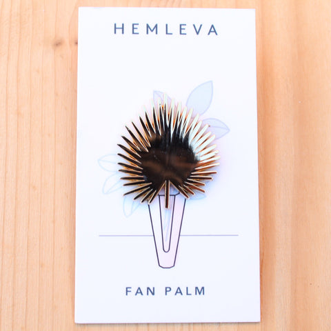 Gold Fan enamel pins