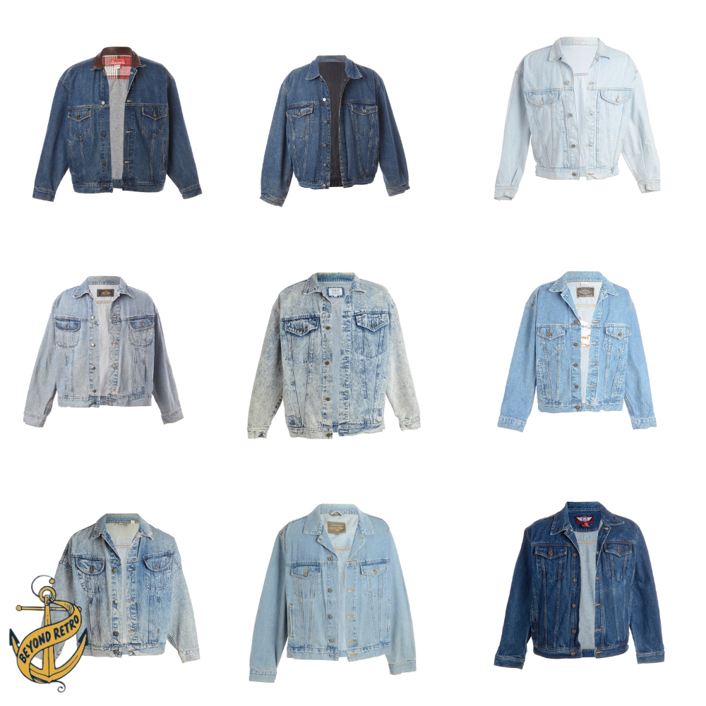 Boxes of Womens Denim Jackets, Various Weights and Sizes