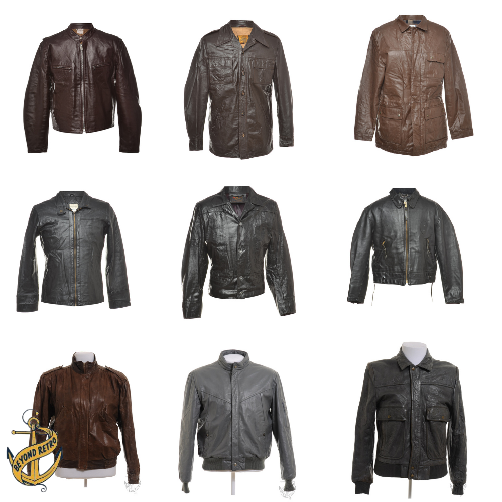 Boxes of Mens Leather Jackets, Various weights and units
