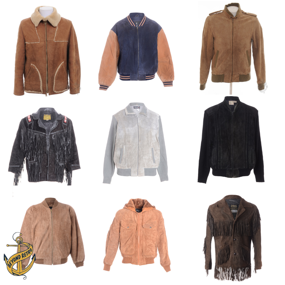 Box of Mens Suede Jackets, 12kg (26lb), approx 10 units