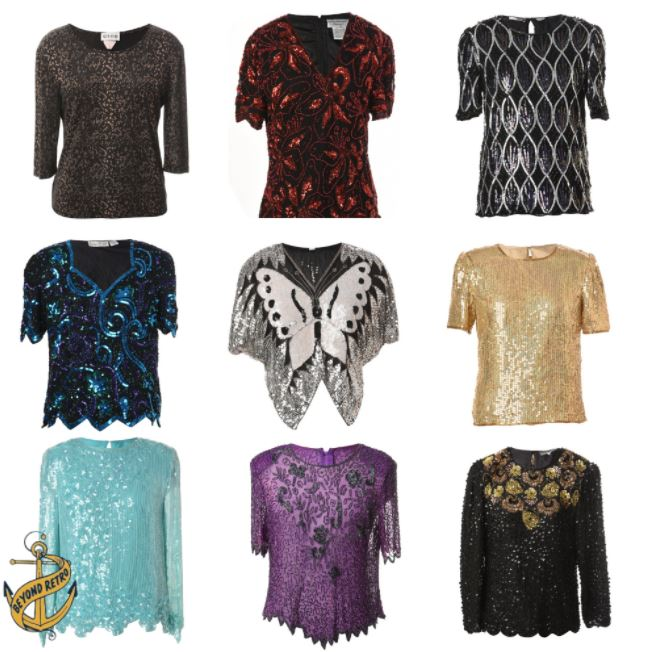 Box of Womens Party Tops and Blouses, 12kg (27lb), approx 60 units