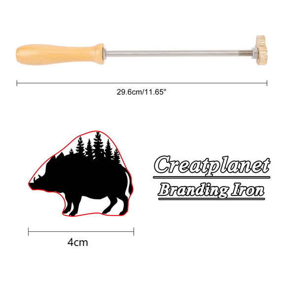 Wood Branding Iron with Brass Head-porcupine