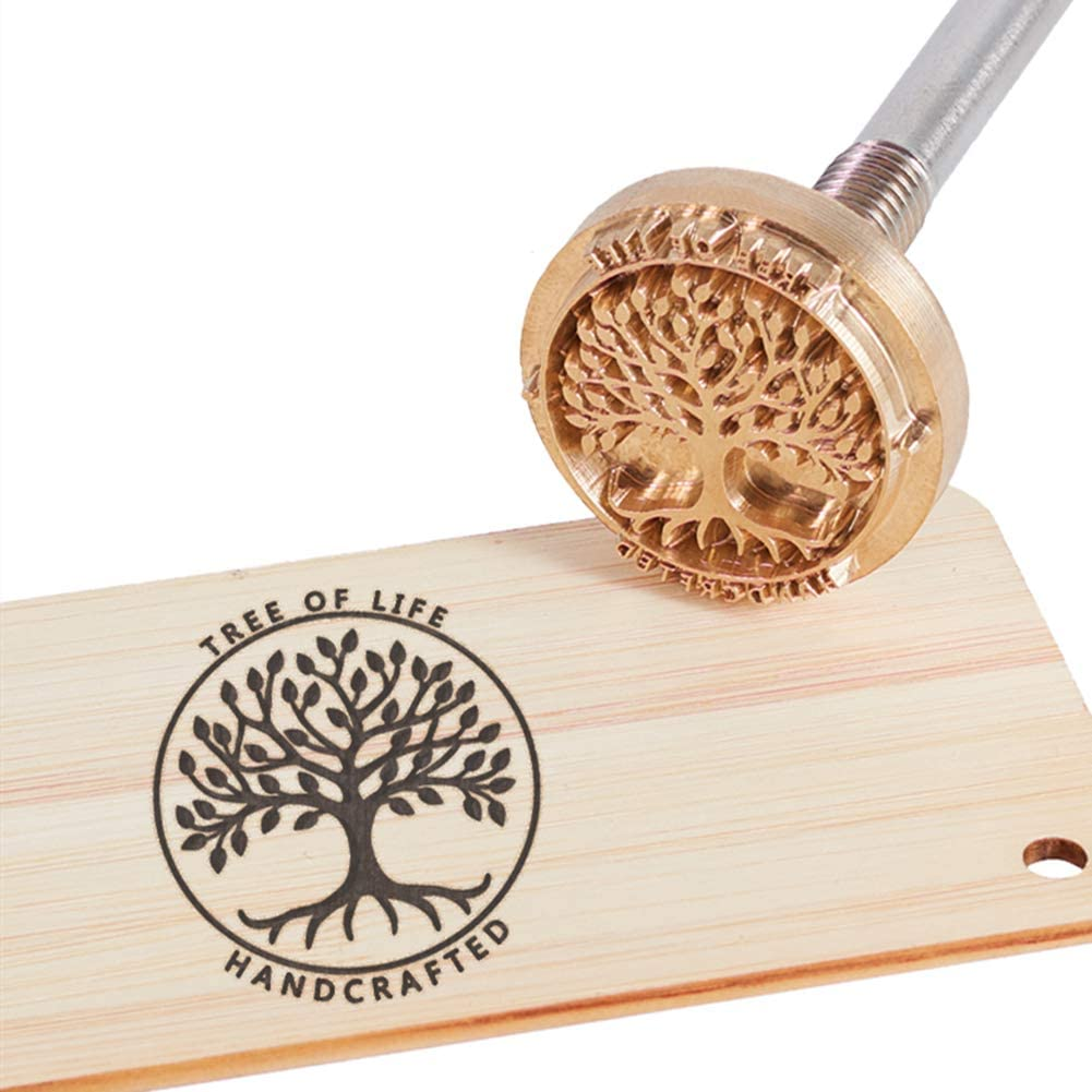 Wood Branding Iron with Brass Head- Tree of Life