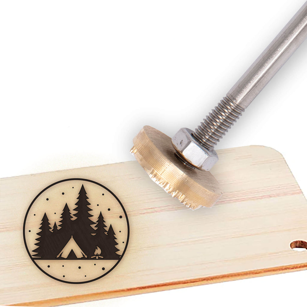Wood Branding Iron with Brass Head-camping