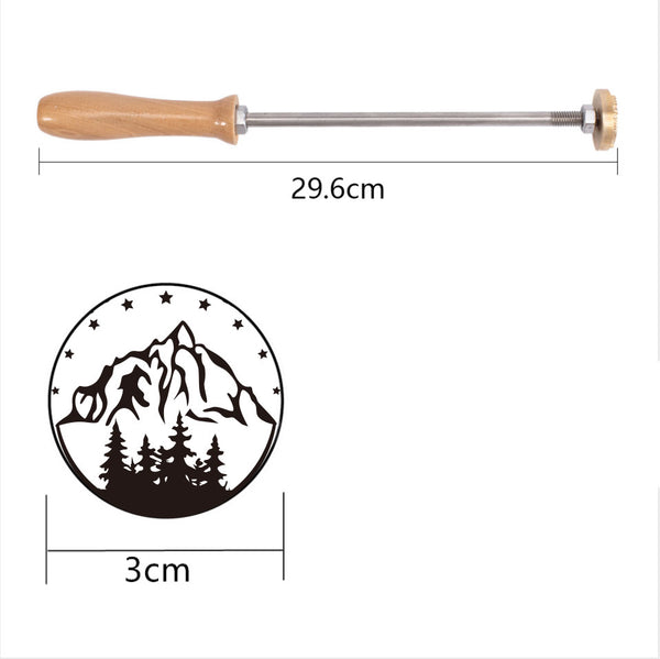 Wood Branding Iron with Brass Head-mountain