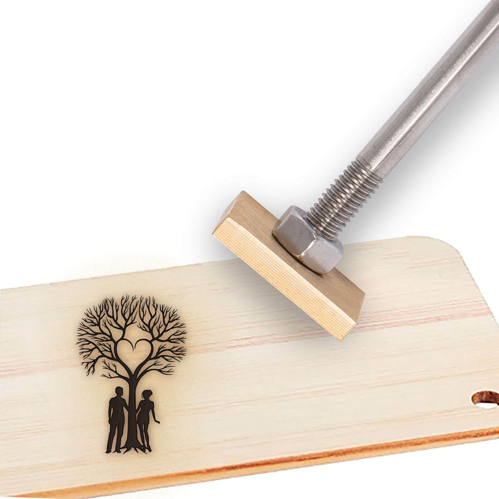 Wood Branding Iron-love tree