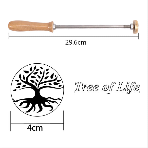 Wood Branding Iron-Tree