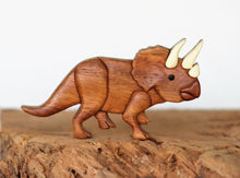 Load image into Gallery viewer, Triceratops Dinosaur Magnet / Ornament