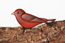 Load image into Gallery viewer, Scarlet Tanager Songbird Magnet / Ornament