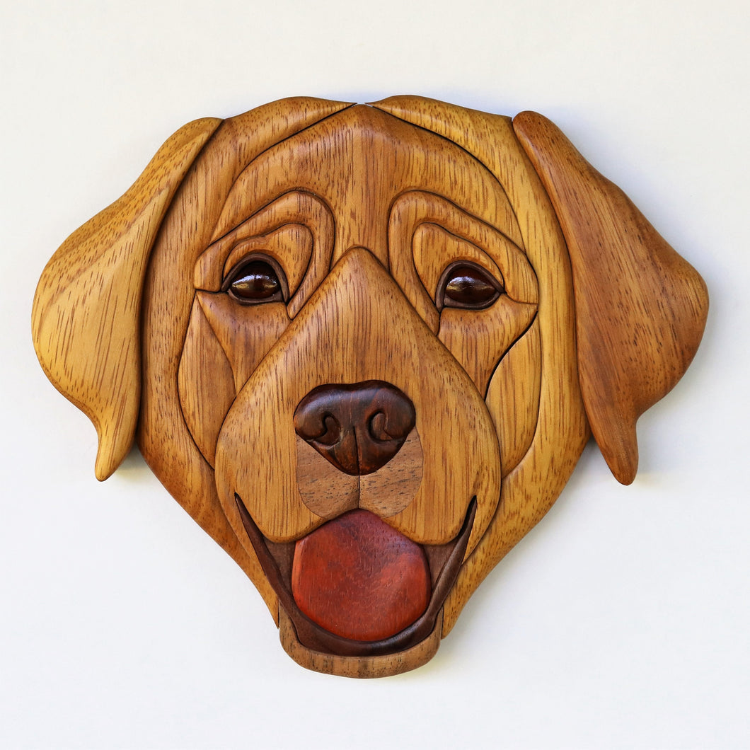Labrador Retriever Dog Head Wall Hanging
