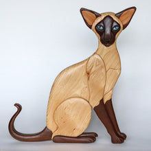 Load image into Gallery viewer, Sealpoint Siamese Cat Wall Hanging