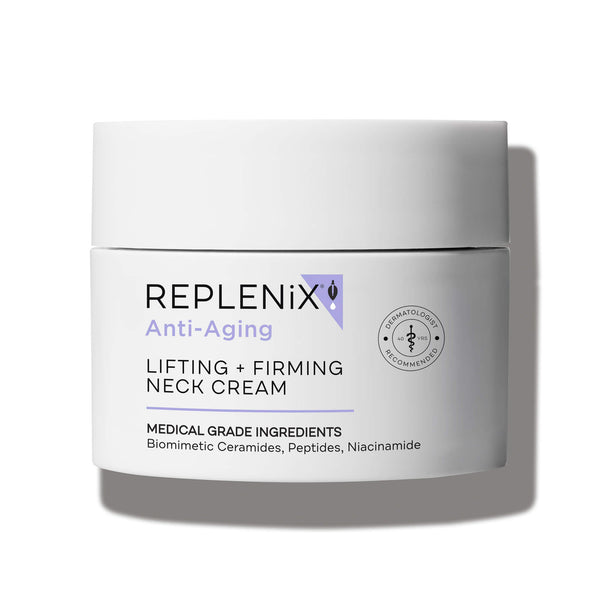 Image of white container | Lifting + Firming Neck Cream | Anti-Aging | Replenix