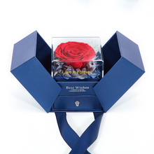 Load image into Gallery viewer, Preserved Fresh Roses Jewelry Box Valentine's Day Gifts Handmade Everlasting Flower for Ladies and Girls (Necklace NOT included)
