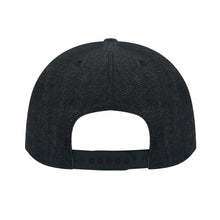"Load image into Gallery viewer, ""STOP"" Adult Denim Black Flat Baseball Hat Adjustable Classic Athletic Baseball Cap"