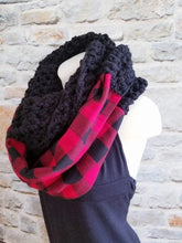 Load image into Gallery viewer, Buffalo Plaid Infinity Scarf